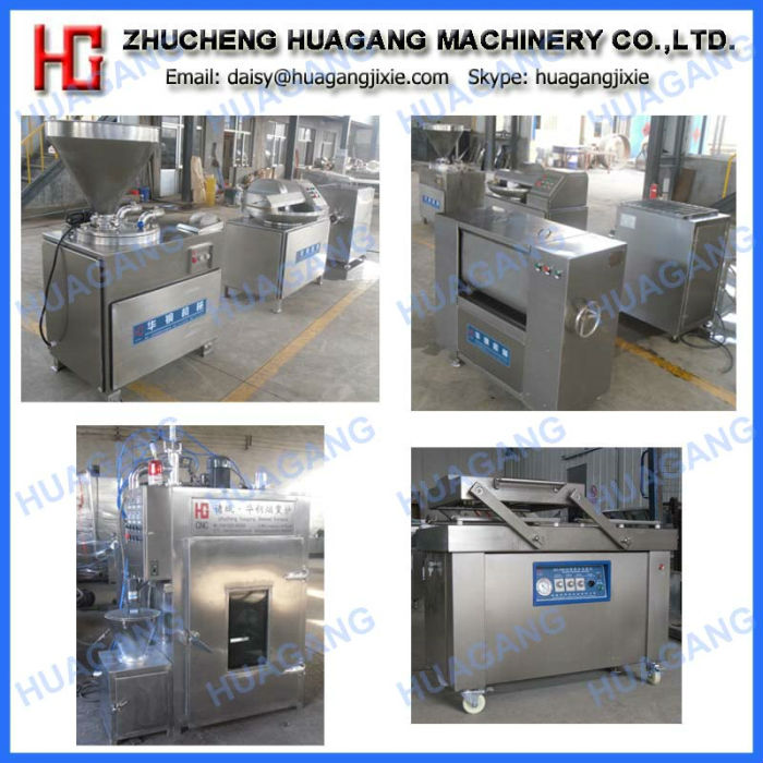 Automatic high efficiency sausage processing line