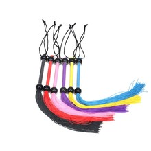 Newest Arrival Fashion Rubber Whipping Whip With Acrylic Handle Sex Spanking silicone Whips Sex Games Toys For Adult erotic toys