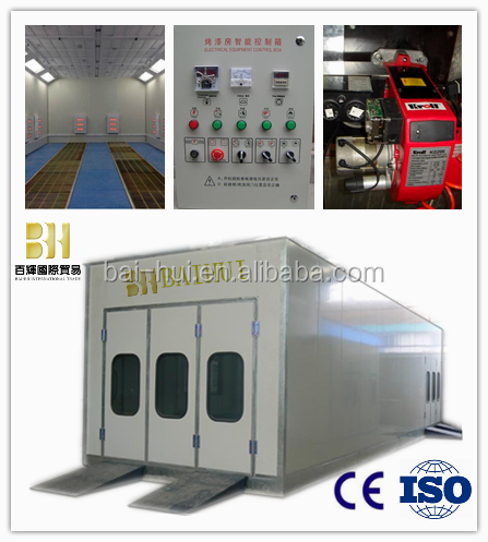 ISO Approved Car Spray Painting and Baking Booth with Diesel Tank