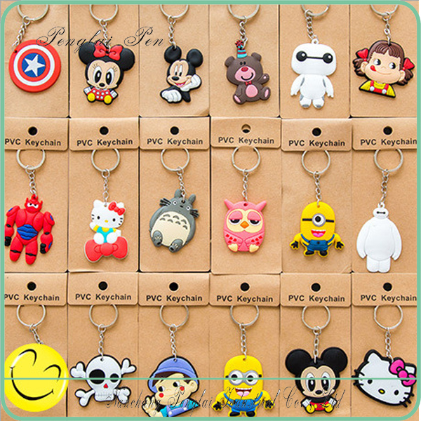 2017 Promotional gift Zootopia PVC key chain 3d pvc keychain Zootopia Cartoon soft keychain