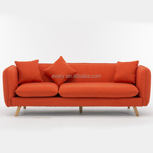 Furniture Living Room Chinese Cheap Couch Bedroom Fabric Sofa Set Sectional Round Double Wooden Sofa