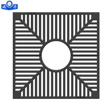 Customized China factory cast iron sand casting metal tree grates