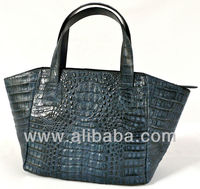 MIMI - 100% Handmade Genuine Exotic Leather Crocodile Skin Women Designer New Shoulder Satchel Tote Bag Handbag