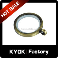 2015 new modern pattern anti-brass color curtain ring insert rubber, wholesale curtain eyelet rings