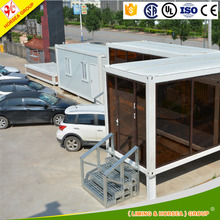 cheap sale high capacity shipping standard prefab shower container log house for store office