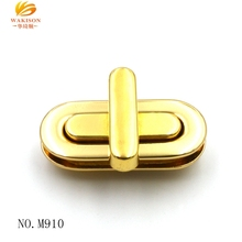 China bag fitting online wholesale gold metal twist lock for bag parts