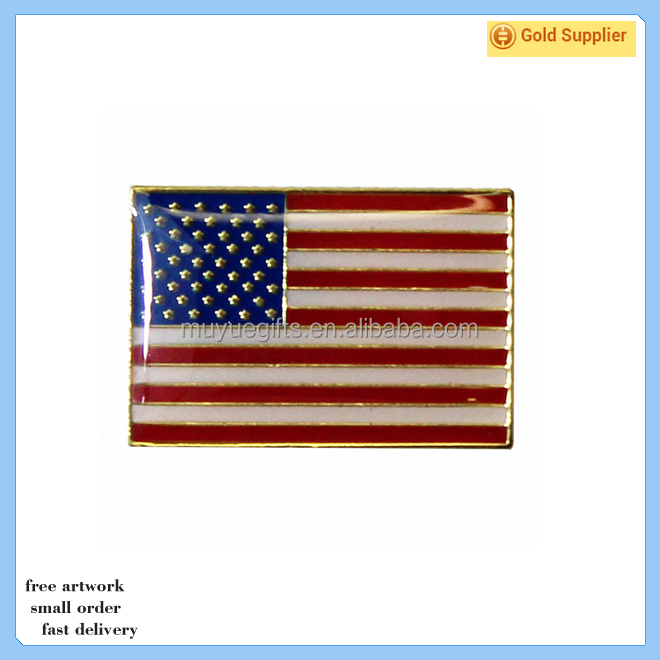Embossed Logo Low Price cross epoxy flag lapel pin