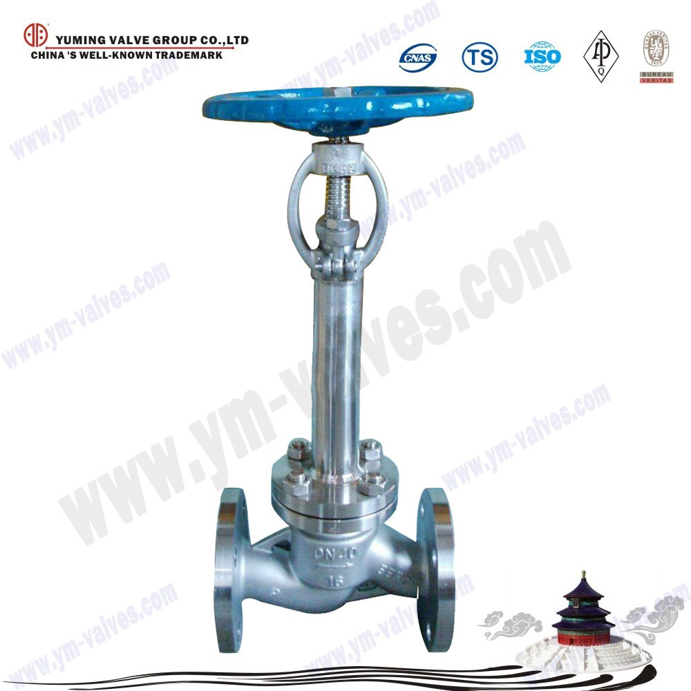 long stem low temperature/cryogenic flange shut-off/globe valve