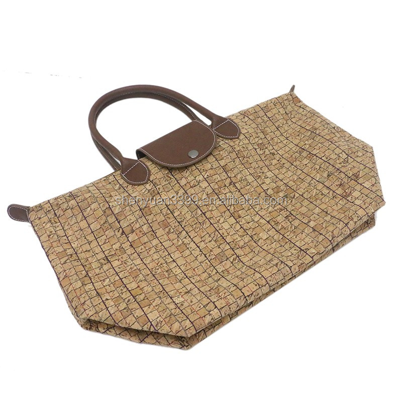 Factory wholesale fashion cork paper women handbag and shoulder bag high quality durable paper bag taobao hot sale daily bag