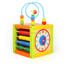 Multi-function CDN-8623 wood abacus math counting box (blackboard,clock,math Beads, abacus) wooden kids toys for kids
