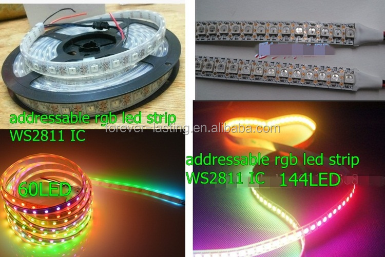 5V 12v addressable rgb led strip 6803 8806 1812 ws2811 ws2801