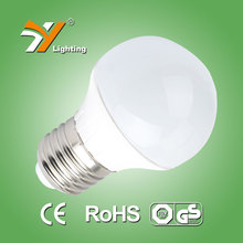 2015 new product E27 LED bulb light G50 5W Aluminium Plastic LED size 50 bulb, CE-LVD,EMC, RoHS, TUV-GS certificate