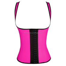 Walson latex weight loss body shaper latex rubber corset steel boned latex clothing