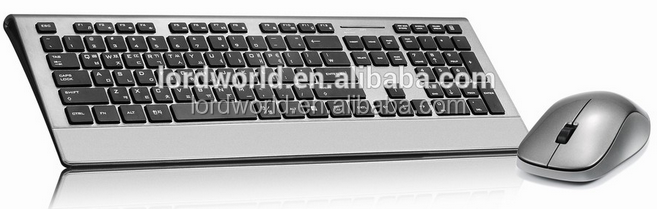 2017 wireless keyboard New design Wireless 2.4G Combo keyboard and mouse kit