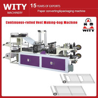 plastic roll garbage bag making machine