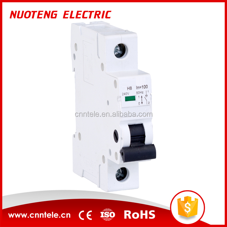 switch type 4 pole mcb 63 amp disconnector switch isolating circuit breaker