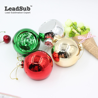 Sublimation Christmas Ornaments Glass Tree Hanging Ball