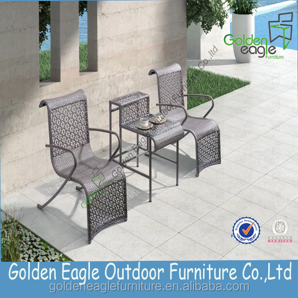 High class and preferential rattan garden chair set with beautiful & colorfast cushion