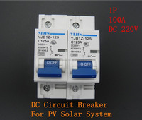 1P 125A 220V DC vacuum Breaker ( DC MCB breaker ) for Solar system protection