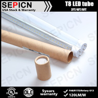Commercial light 18w high lumen led light tube with double-insulated internal driver