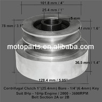 Heavy duty centrifugal clutch pulley 8hp to 16hp engine v belt pulley for sale