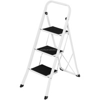Steel Folding Compact Portable 3 Step Ladder with 330lbs Capacity
