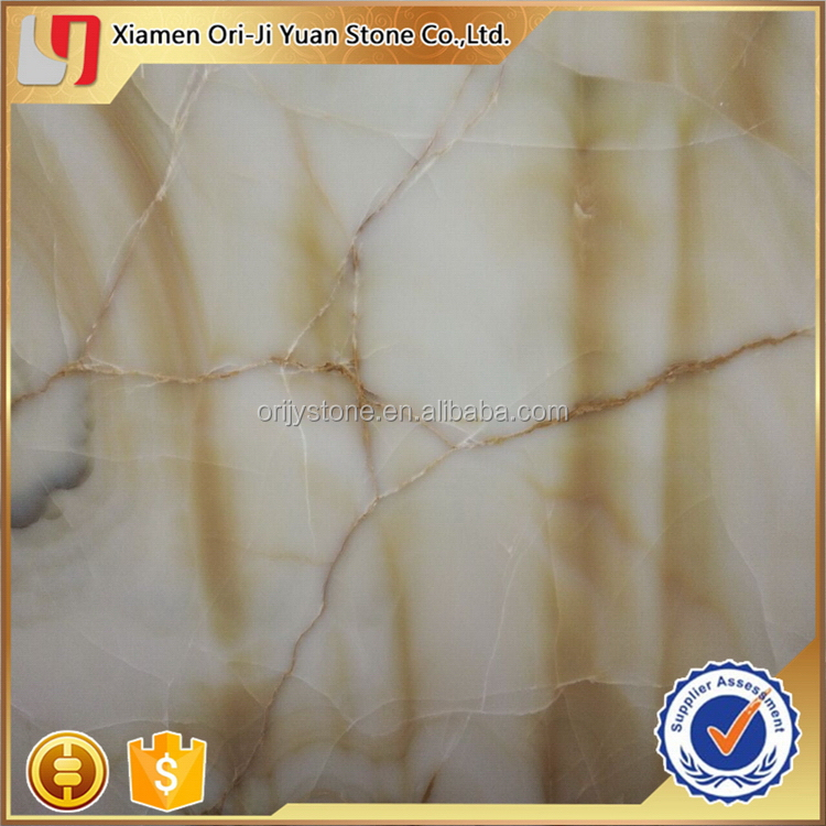 Contemporary useful natural transparent yellow onyx stone