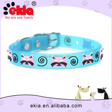 Colorful Small Silicone Pet Dog Cat Collar With Jingle Bell
