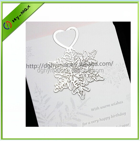 personalized snowflake silver metal bookmark with ribbon