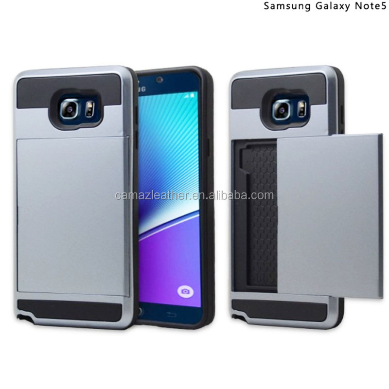 Hybrid TPS + PC armor protective cell phone mobile cover with Slide type for Samsung & Apple phone series