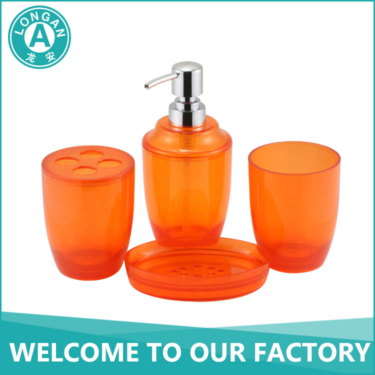 Custom Free Sample Ecofriendly Acrylic Material 300ml Soap Dispenser Lotion Pump Kids Orange