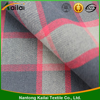 fashion shirt garment 100% cotton yarn dyed plaid fabric