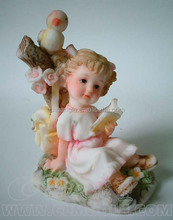 Creative polyresin craft for home decoration,wedding decoration resin craft,lovely angel statues