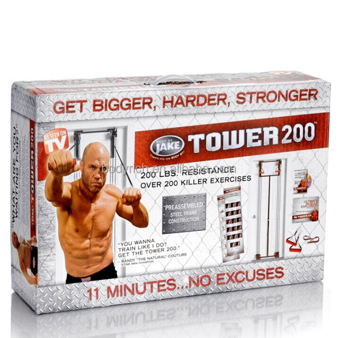 Hot Sale Tower 200 Door Gym Rubber Workout Bands