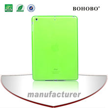 High Quality Colorful TPU Case,Transparent TPU Case For ipad 5 Green