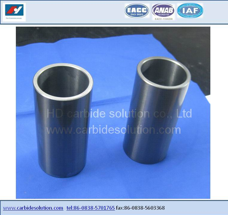 High performance tungsten carbide rotating bushing /rotating shaft sleeves
