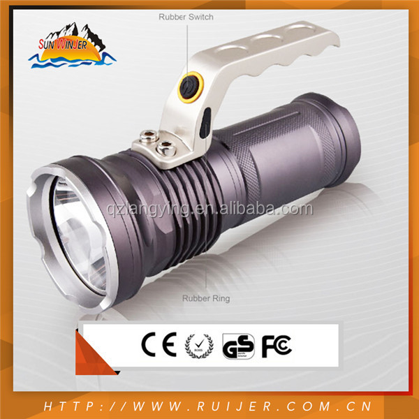 Beautiful Cool White High Power Beam 9 Volt Battery Led Flashlight