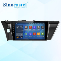 1024*600 HD Display 10.1 Inch Car Radio Navigation For Toyota Corolla 2014 With GPS