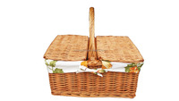 willow picnic basket with handle