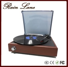 Rain Lane Classic 3 speed Turntable LP Vinyl Record Modern Gramophone Record Player Phonographs