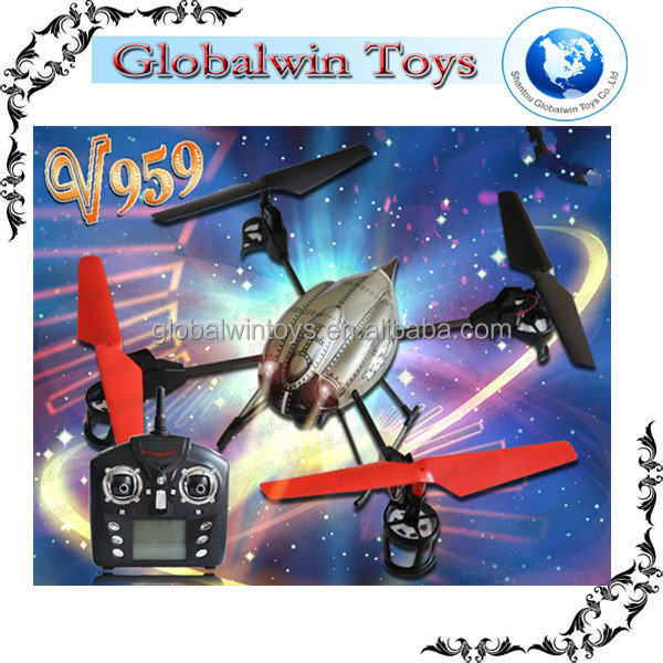 Top Series!!!Wltoys V959 Dji Phantom 2.4G 4 Channel 3Axis GYRO UFO 4CH IR RC Aircraft Traxxas Camera Helicopter