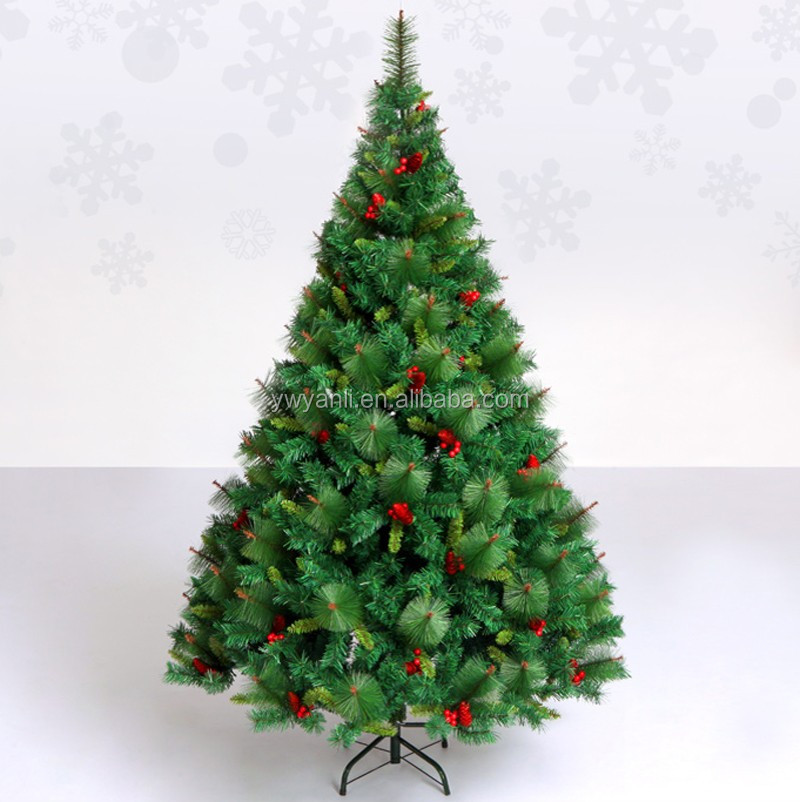 5 Foot Good Quality Red Cone Pine Cone Mixed Christmas Tree