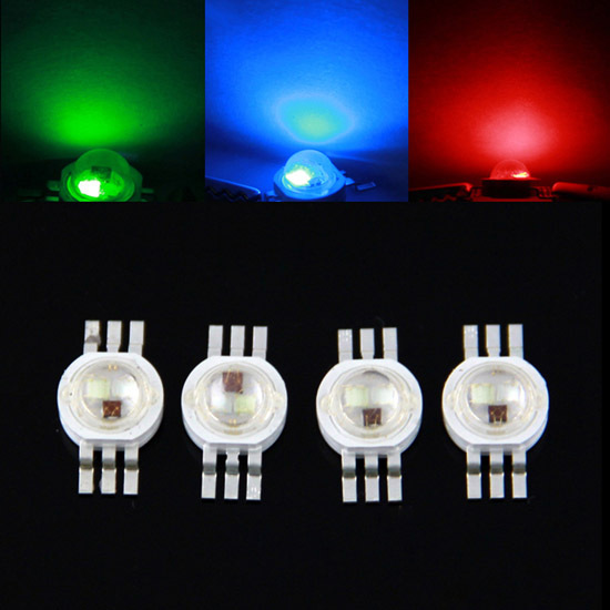Tri-color high power 1w 3w Full Color LED Emitter rgb led for stage lighting