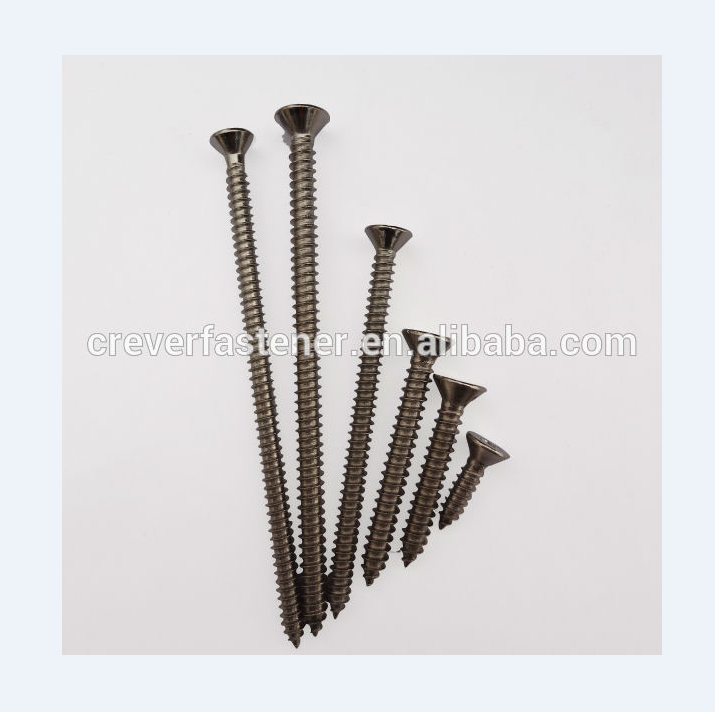 Latest customized factory price nylon nail screw for anchor and plug