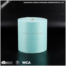 Tear-Resistant Jumbo Nonwoven Spunlace Industrial Cleaning Wipe