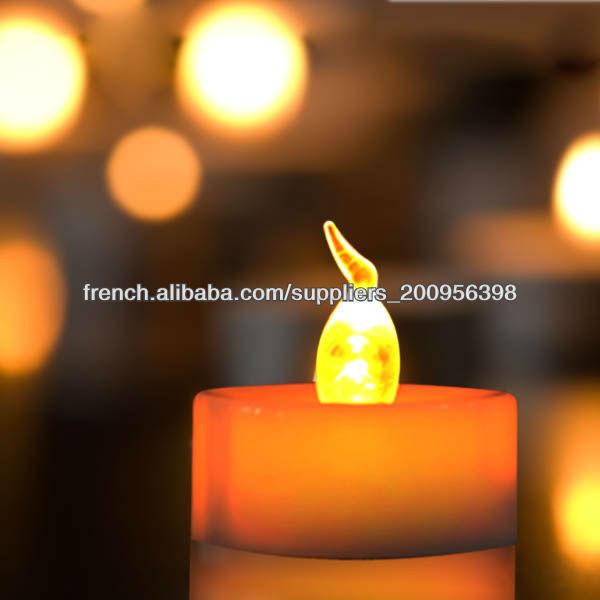 gros bougies piles pilier sans flamme noce de faveur. Black Bedroom Furniture Sets. Home Design Ideas