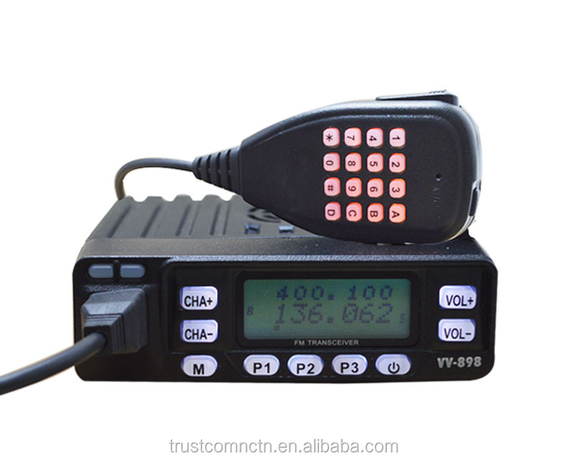 10W mini Dual Band radio TC-898UV With Input frequency by using Keypad & Lease function
