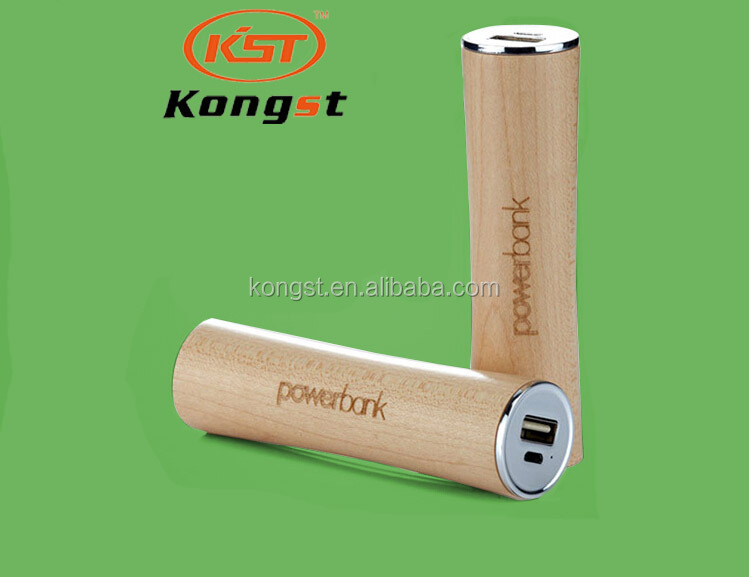 Wooden 2600mah power bank, Cylinder Mini Power Bank Free Sample, OEM Factory Supply Power Bank