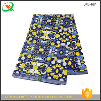 Spandex african wax printed cotton fabric colorful spots printed wax fabric for clothes making