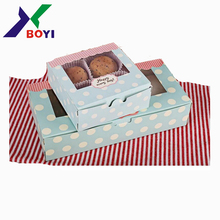 Decorative Paper Cardboard Biscuit Cookies Candy Macaron Gift Packaging Boxes with window